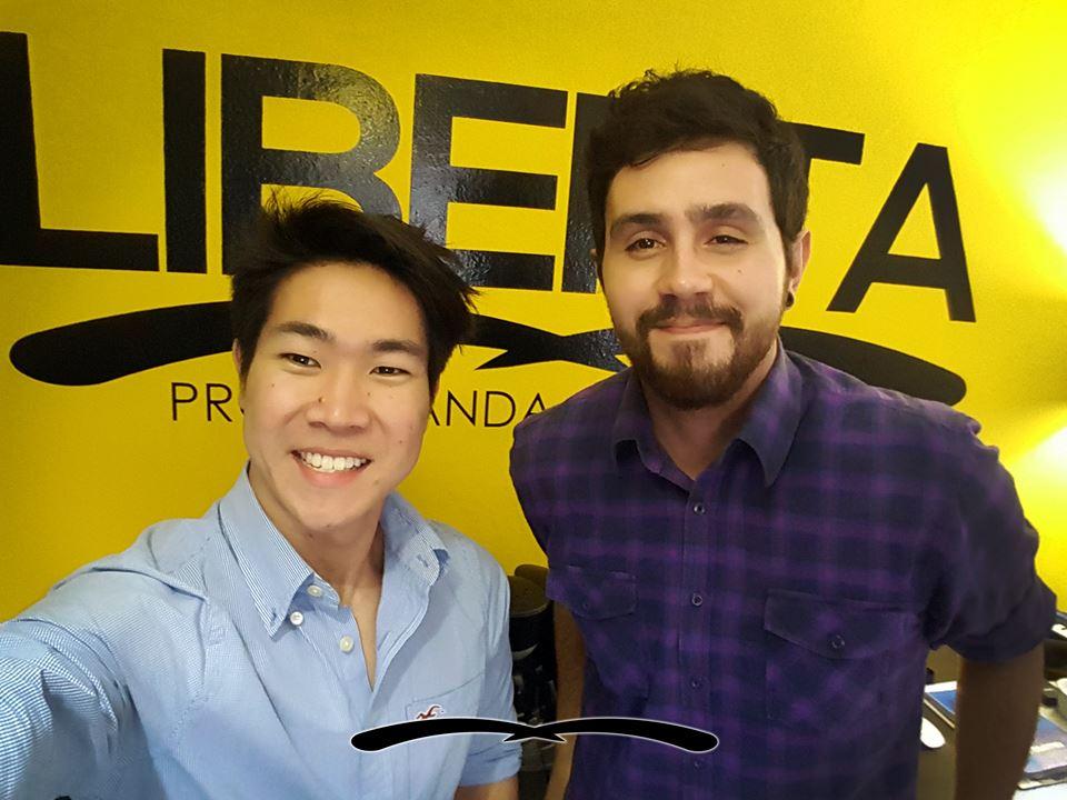 Azuma (esquerda) e Junior. Nova sociedade impulsionará negócios na Liberta.