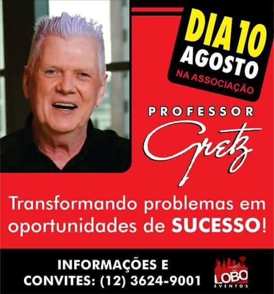 Palestra Com O Professor Gretz Publicitando Josué Brazil